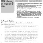 Land Registry title register